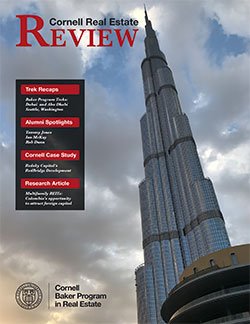 Cover of 2018 edition of Cornell Real Estate Review
