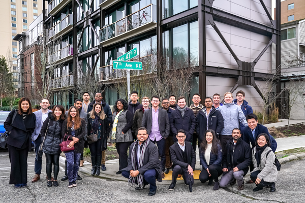 Group picture of students in Seattle