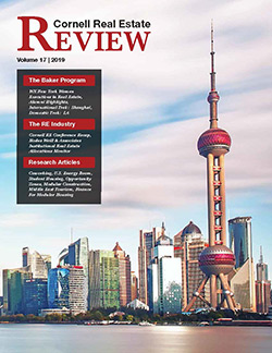 Cover of 2019 edition of Cornell Real Estate Review