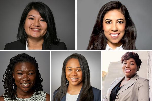 She Has a Deal finalists Nancy Guzman, Marlene Reyes, Joanne Angbazo, Kristen Collins, and Lera Covington