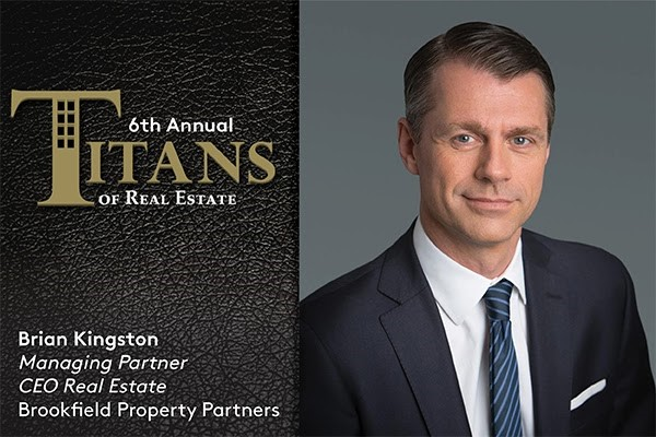 Titans logo with Brian Kingston, managing partner, CEO real estate, Brookfield Property Partners